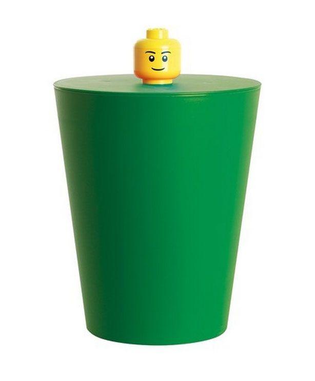 Lego rangement 40601734 pas cher corbeille lego verte - Boite rangement lego pas cher ...