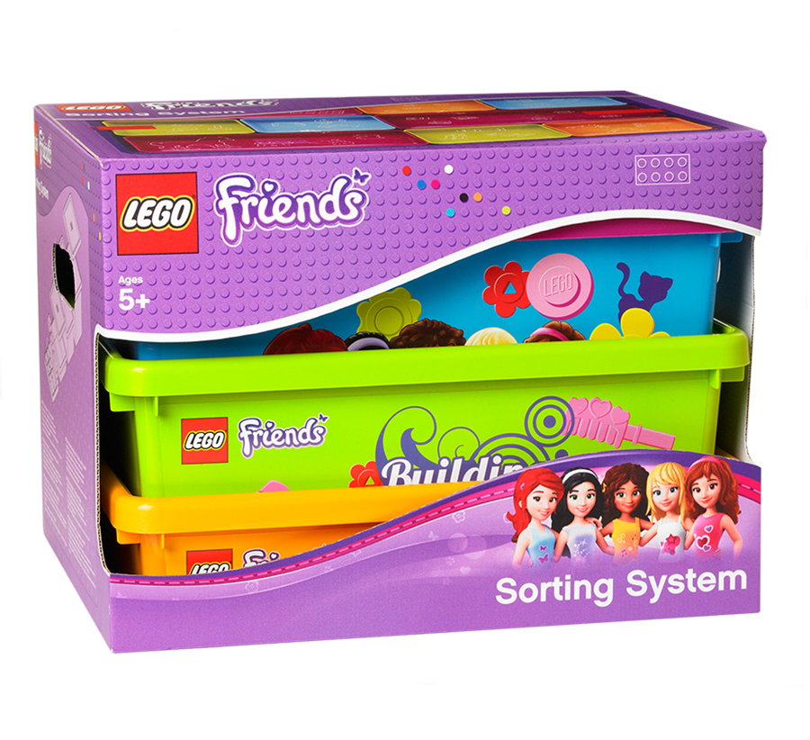 lego rangement 40911702 pas cher bo te de rangements lego friends. Black Bedroom Furniture Sets. Home Design Ideas