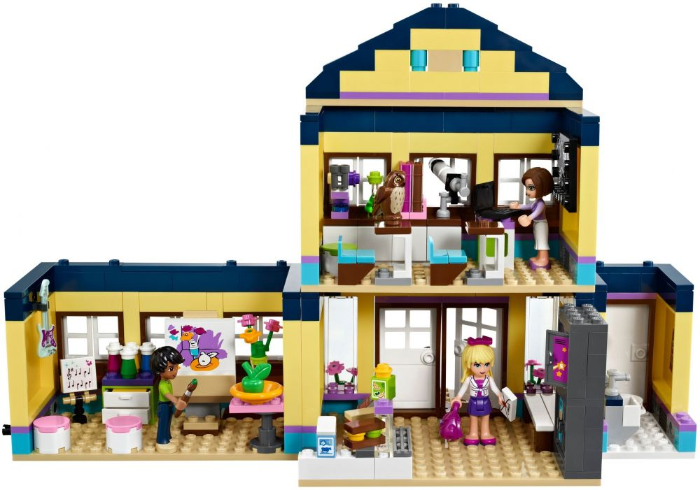 Lego friends 41005 pas cher l 39 cole de heartlake city - Lego friends l ecole ...