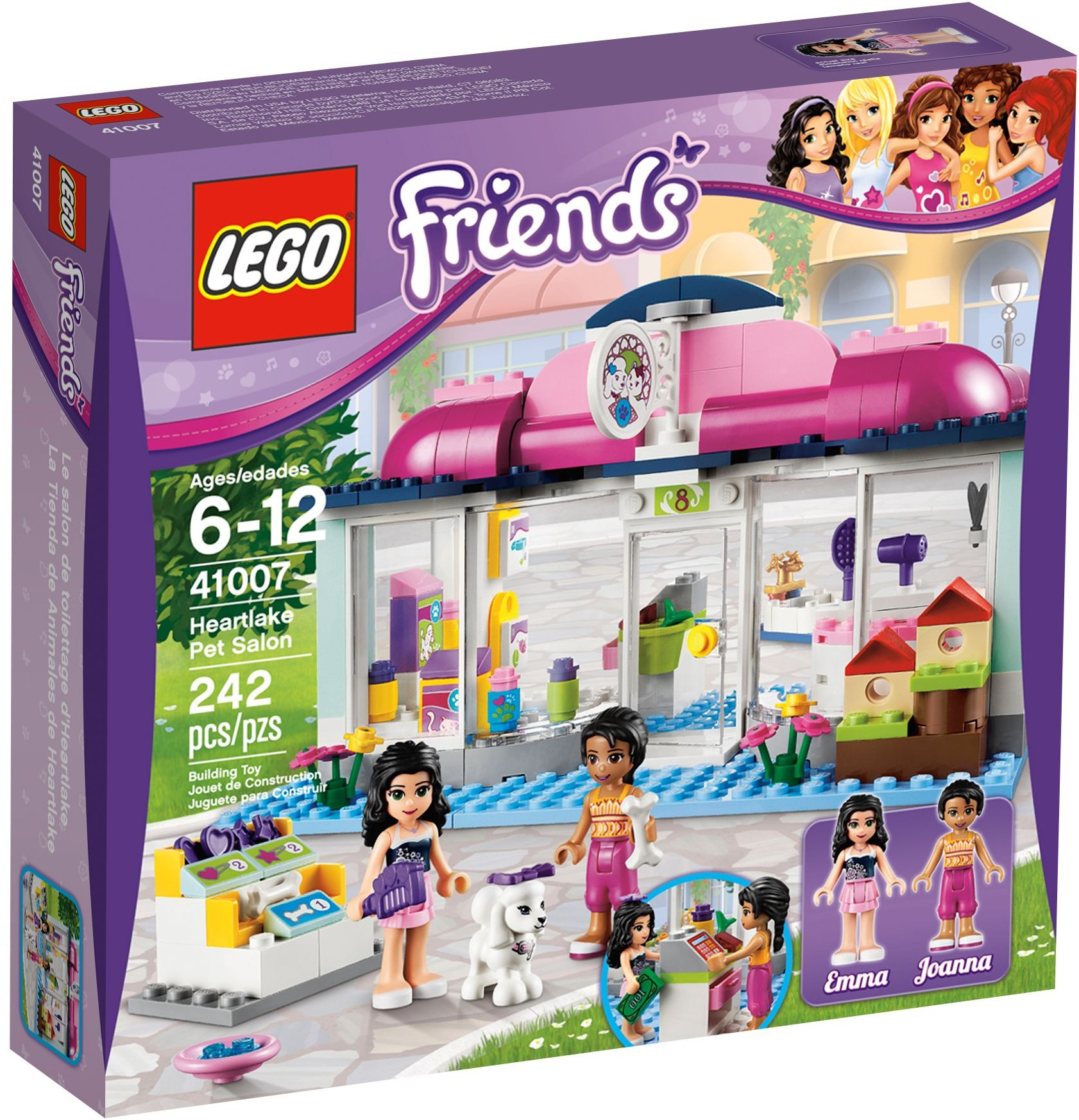 Lego friends 41007 pas cher l 39 animalerie d 39 heartlake city for Lego friends salon de coiffure