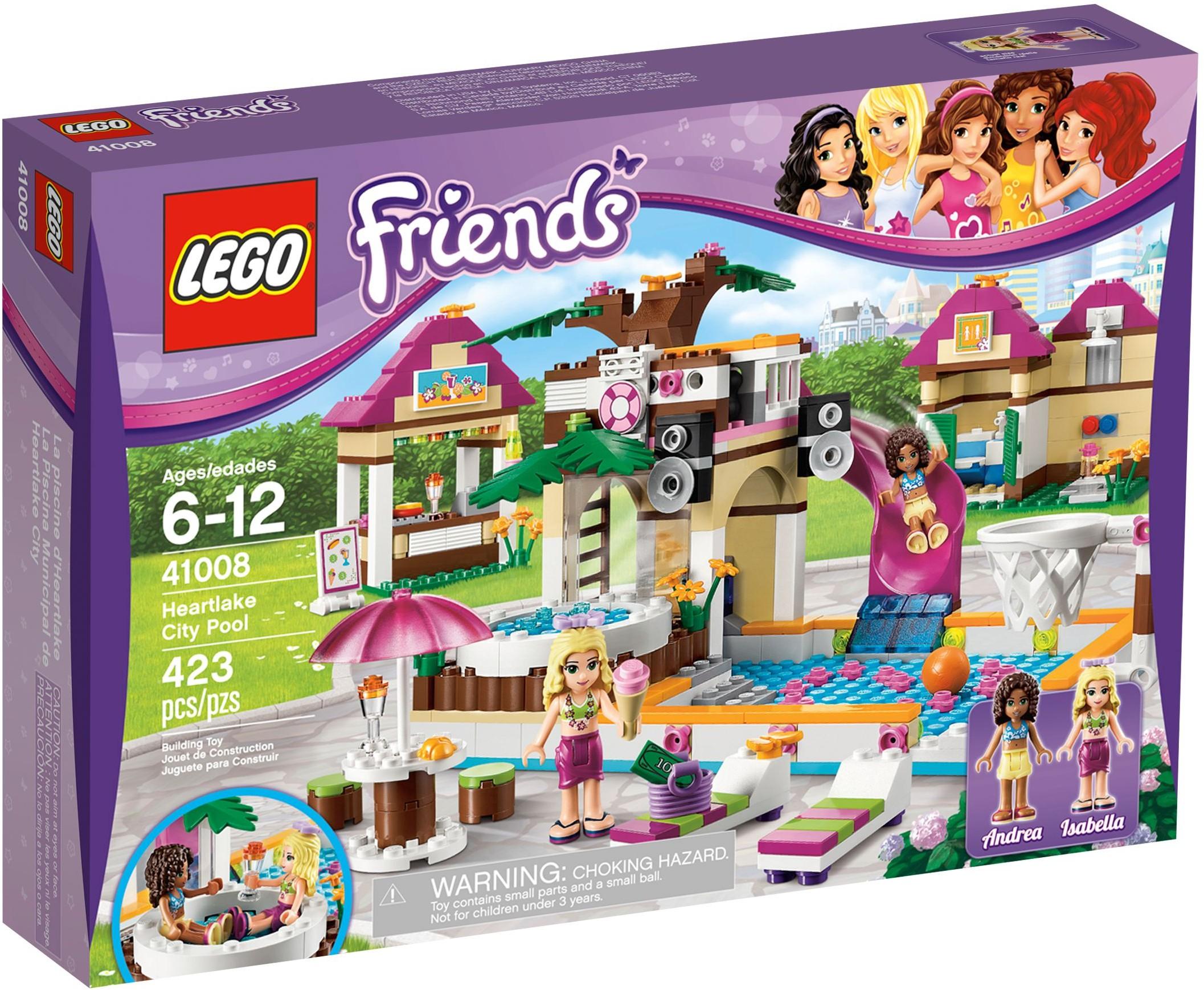 Lego Friends 41008 Pas Cher La Piscine D Heartlake City