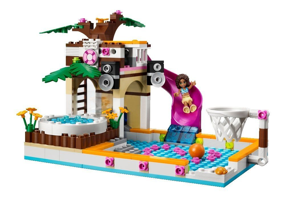 lego friends 41008 pas cher la piscine d 39 heartlake city