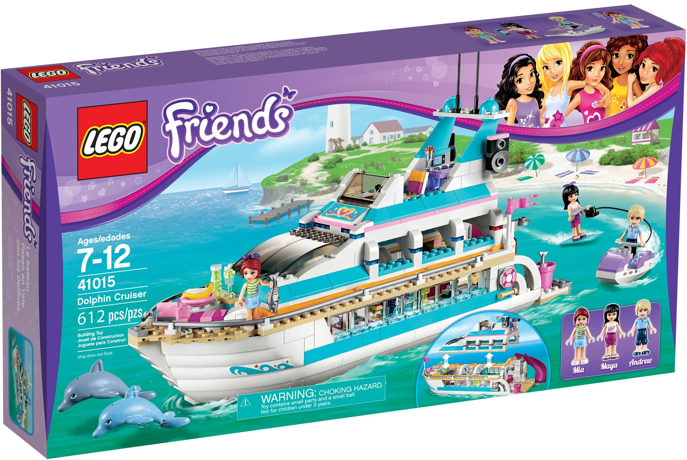 lego friends 41015 pas cher le yacht. Black Bedroom Furniture Sets. Home Design Ideas