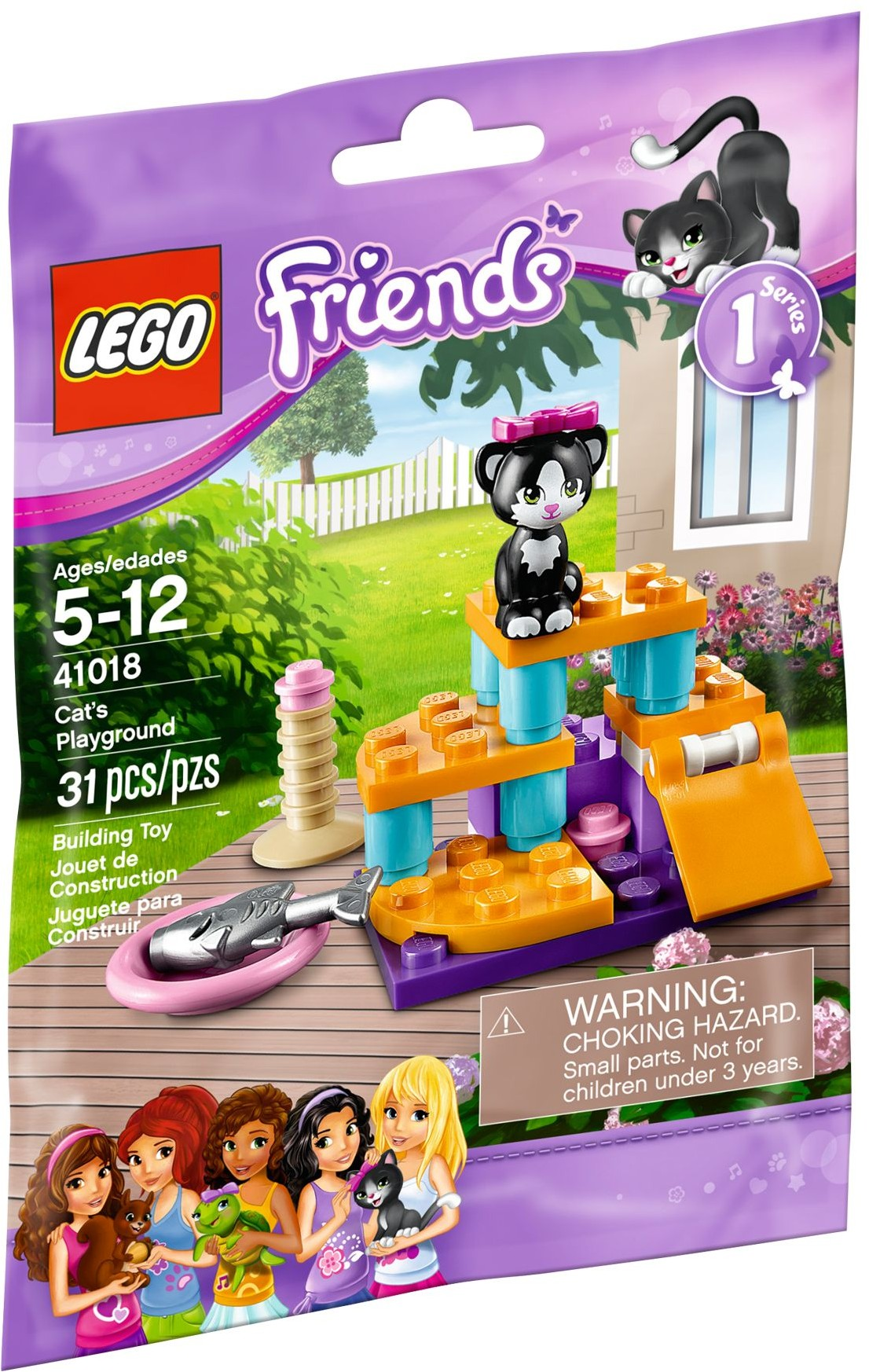 lego friends 41018 pas cher le chat et son aire de jeux. Black Bedroom Furniture Sets. Home Design Ideas