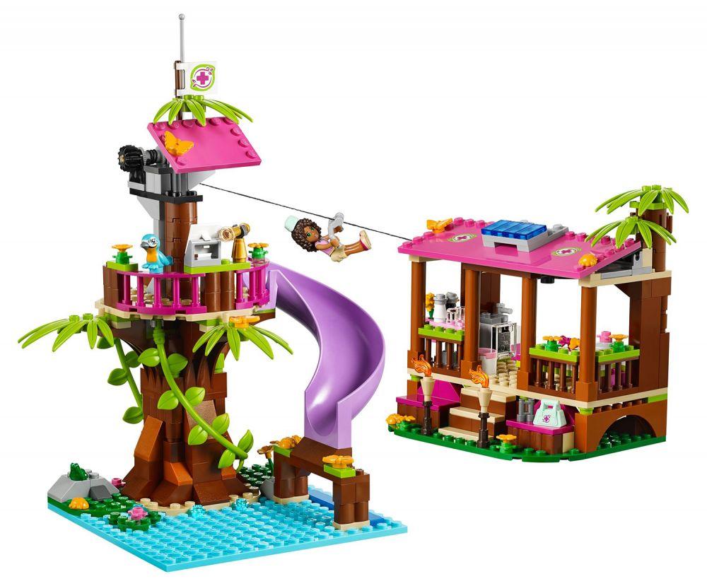 Lego Friends 41038 Pas Cher La Base De Sauvetage De La Jungle