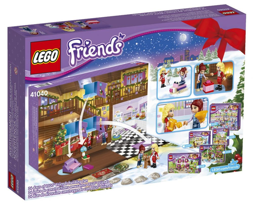 lego saisonnier 41040 pas cher le calendrier de l 39 avent lego friends 2014. Black Bedroom Furniture Sets. Home Design Ideas