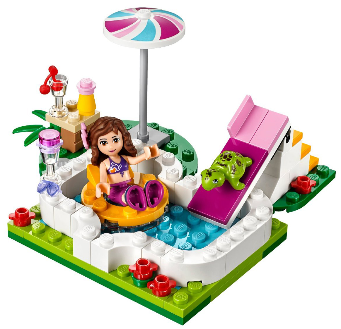 lego friends 41090 pas cher la piscine d 39 olivia. Black Bedroom Furniture Sets. Home Design Ideas