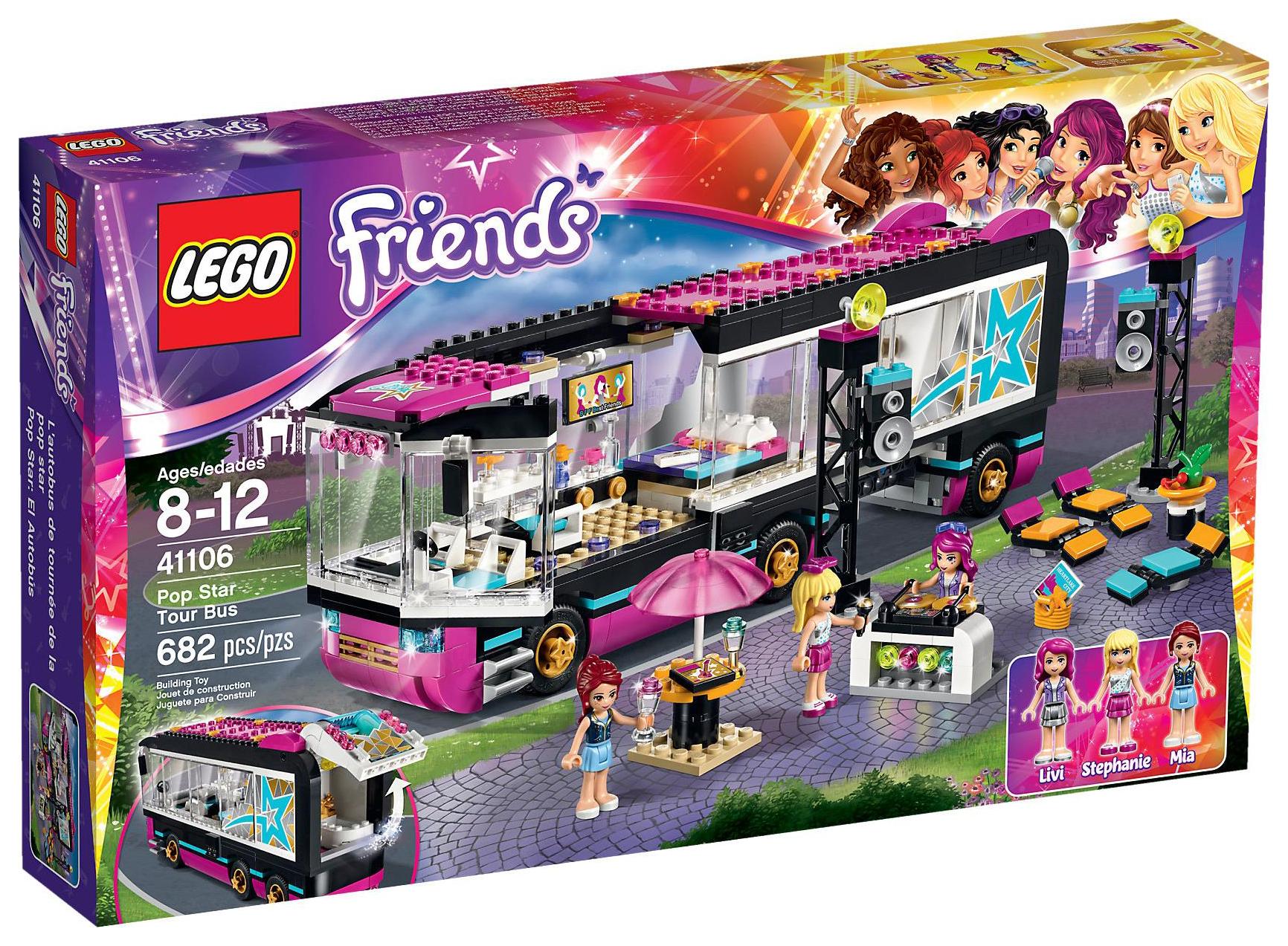 Lego friends 41106 pas cher la tourn e en bus - Lego friends casa de livi ...