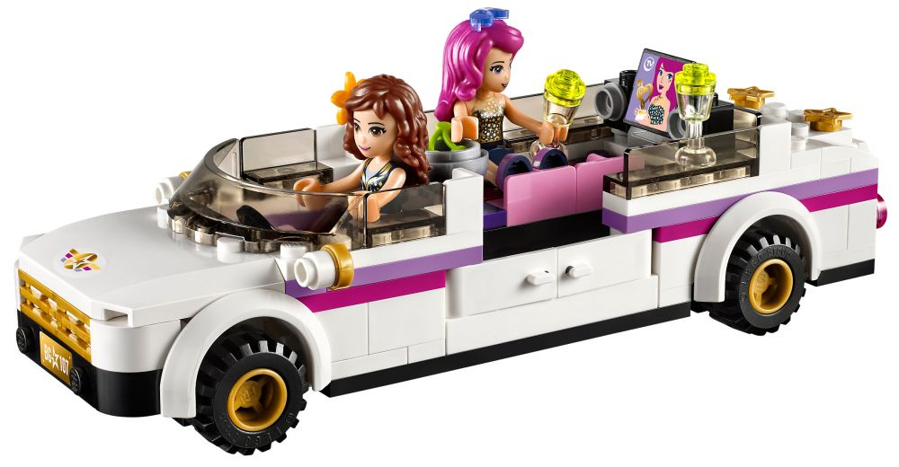 lego friends 41107 pas cher la limousine de la chanteuse. Black Bedroom Furniture Sets. Home Design Ideas