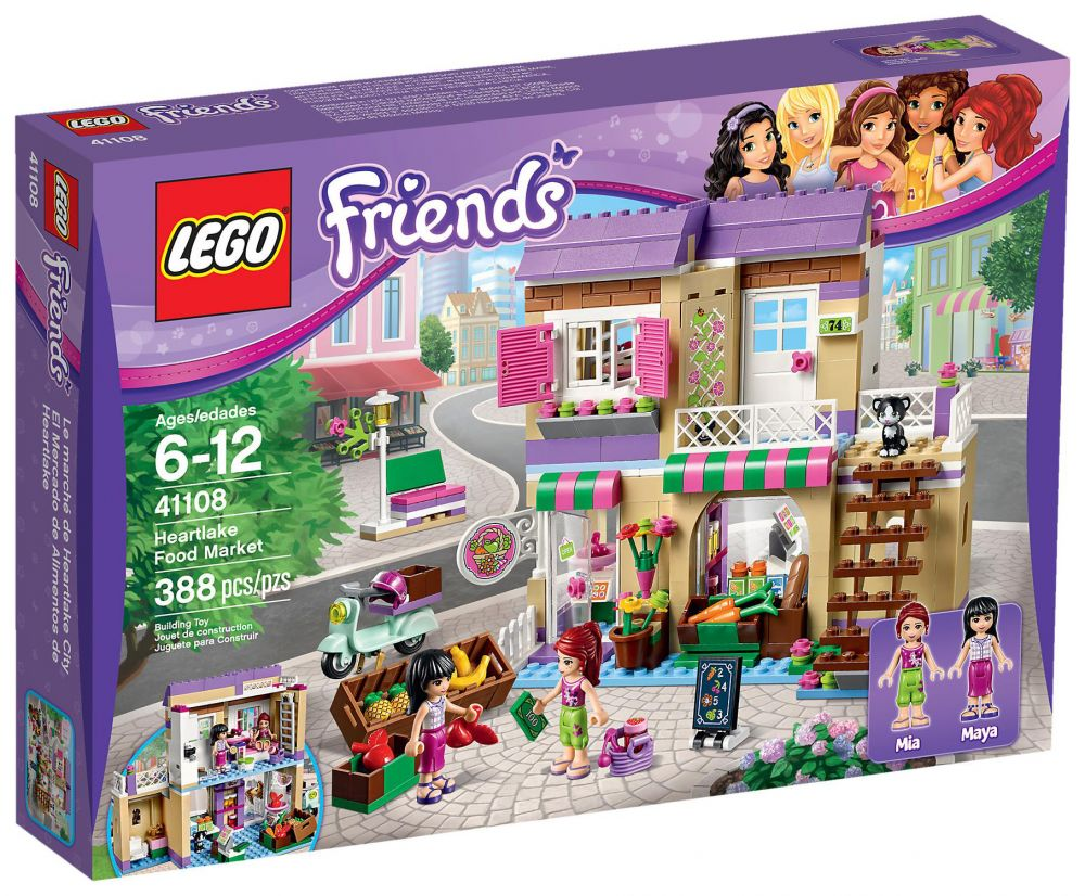 lego friends 41108 pas cher le march de heartlake city. Black Bedroom Furniture Sets. Home Design Ideas