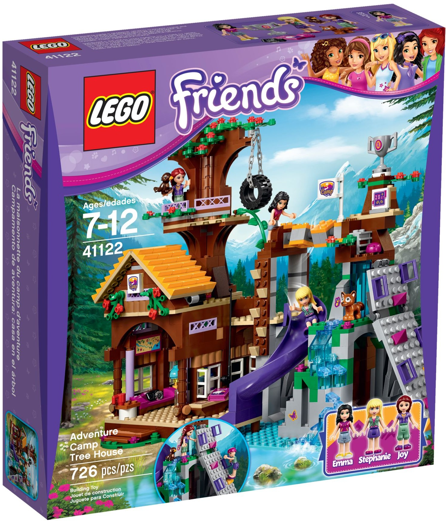 lego friends 41122 pas cher la cabane de la base d 39 aventure. Black Bedroom Furniture Sets. Home Design Ideas