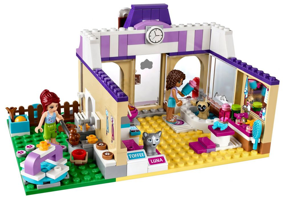 Lego friends 41124 pas cher la garderie pour chiots de for Lego friends salon de coiffure
