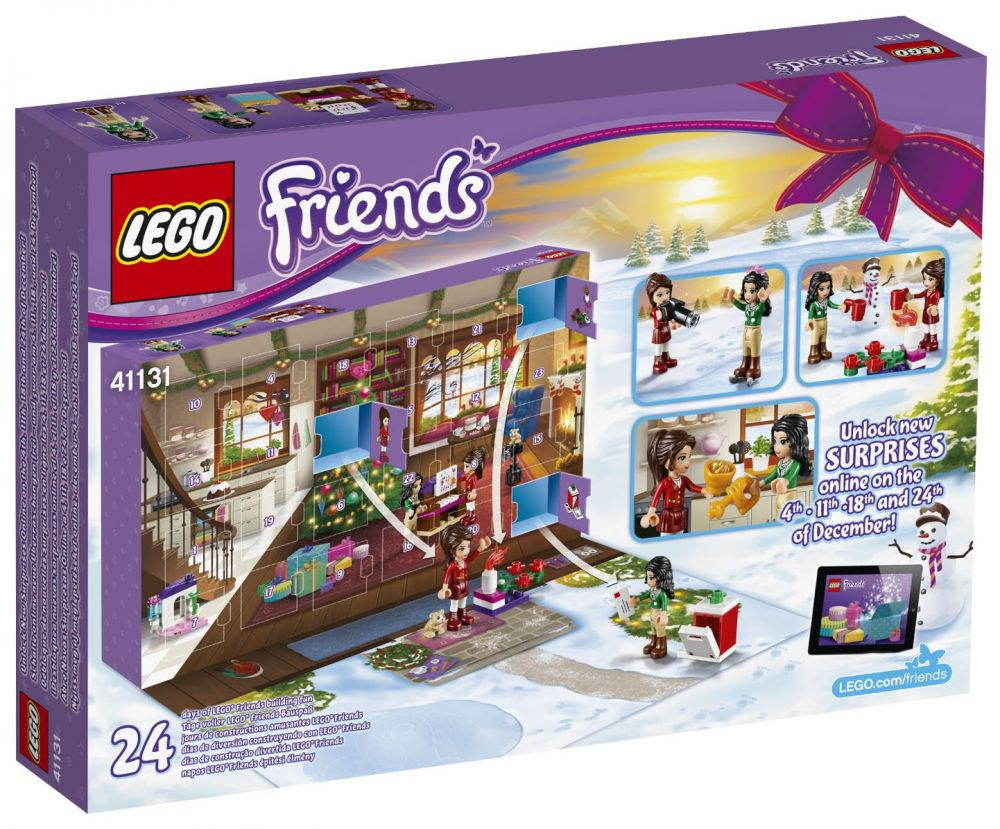 lego saisonnier 41131 pas cher le calendrier de l 39 avent lego friends 2016. Black Bedroom Furniture Sets. Home Design Ideas