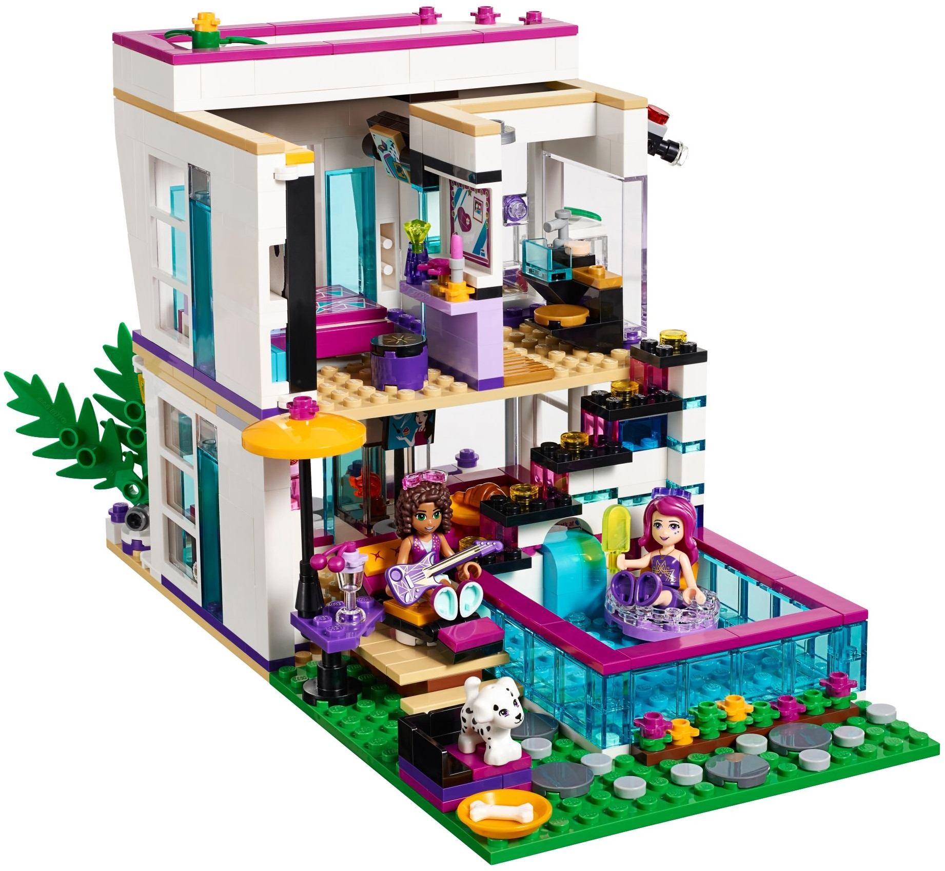 lego friends 41135 pas cher la maison de la pop star livi. Black Bedroom Furniture Sets. Home Design Ideas