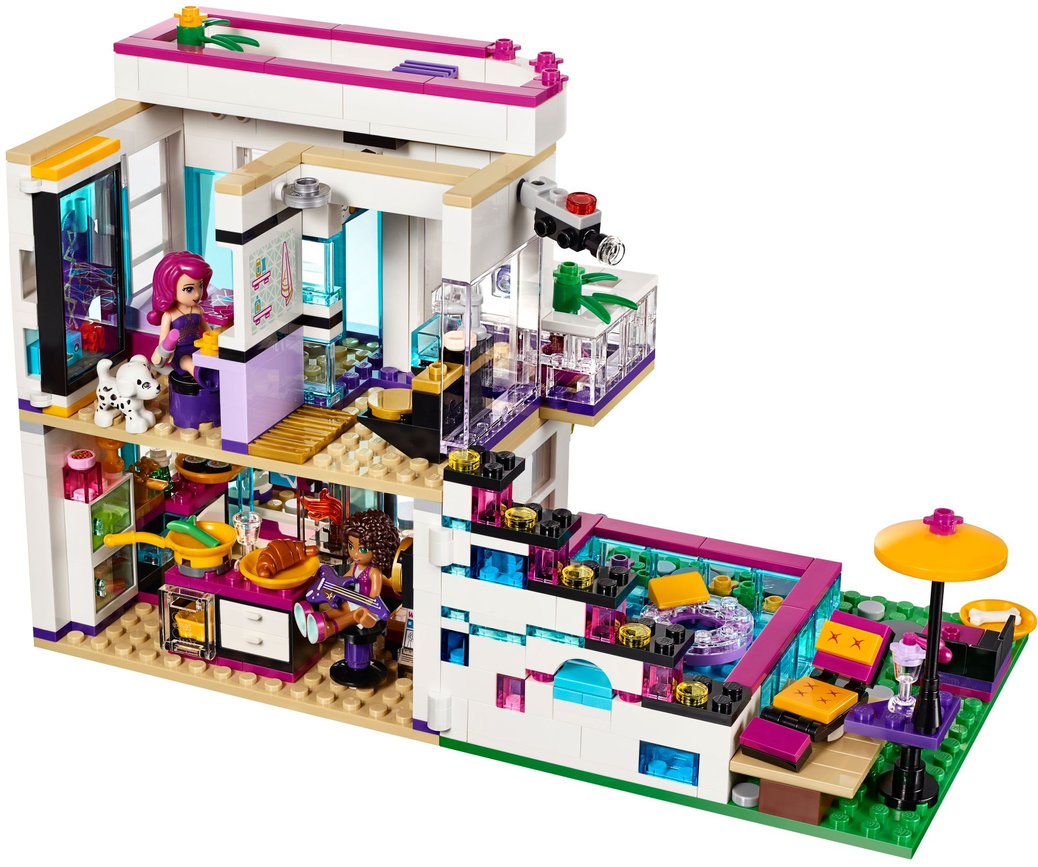 Lego friends 41135 pas cher la maison de la pop star livi for Lego friends salon de coiffure