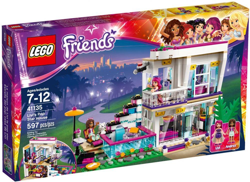 lego friends 41135 pas cher la maison de la pop star livi. Black Bedroom Furniture Sets. Home Design Ideas