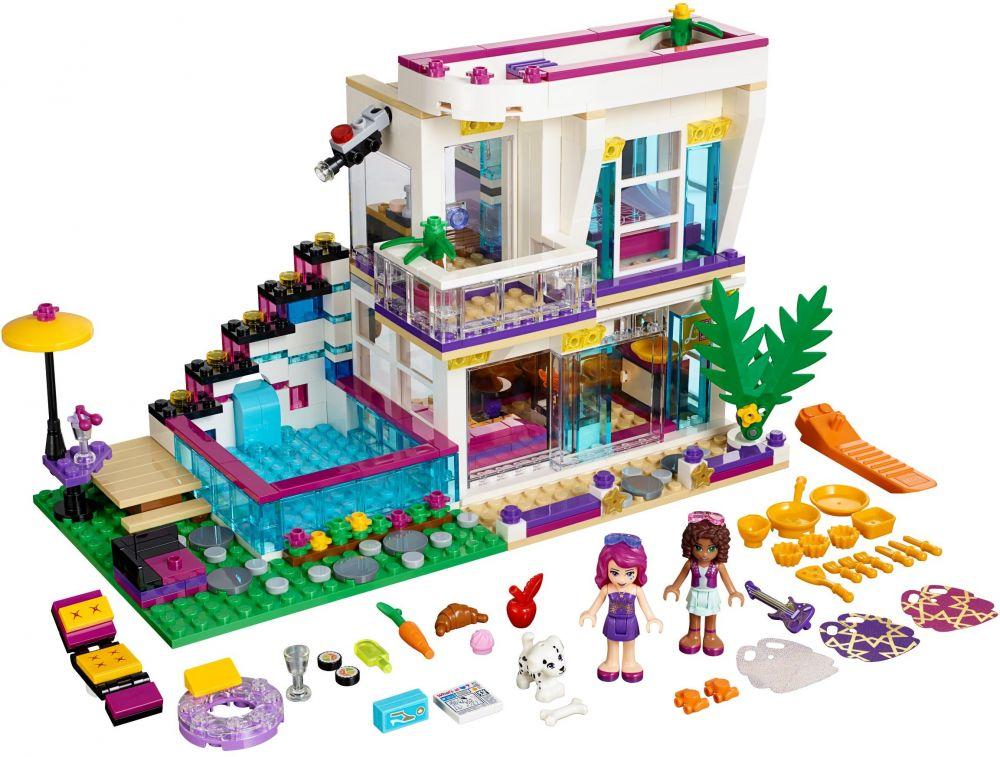 Lego friends 41135 pas cher la maison de la pop star livi for Maison moderne lego