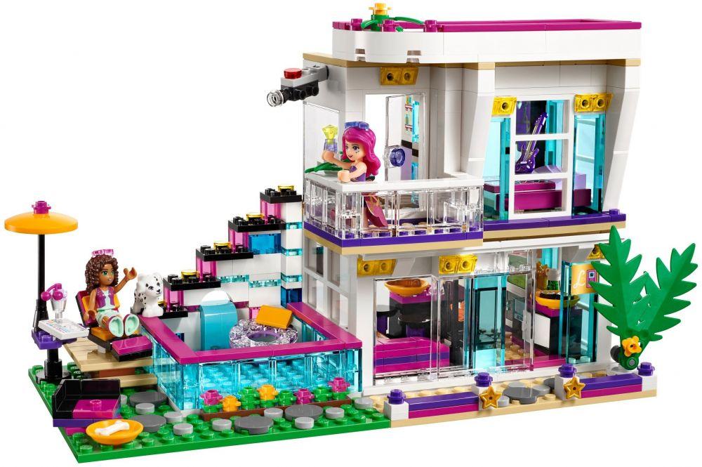 Lego friends 41135 pas cher la maison de la pop star livi for Lego modernes haus