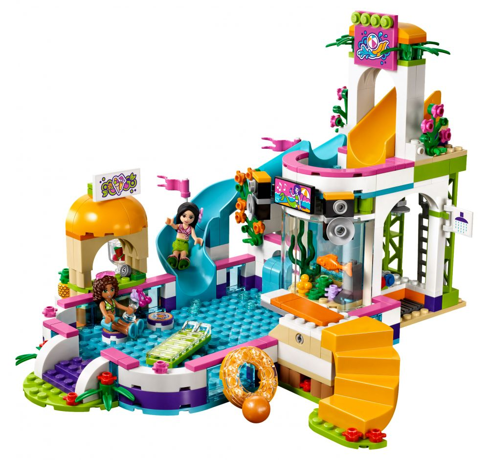lego friends 41313 pas cher la piscine d 39 heartlake city. Black Bedroom Furniture Sets. Home Design Ideas