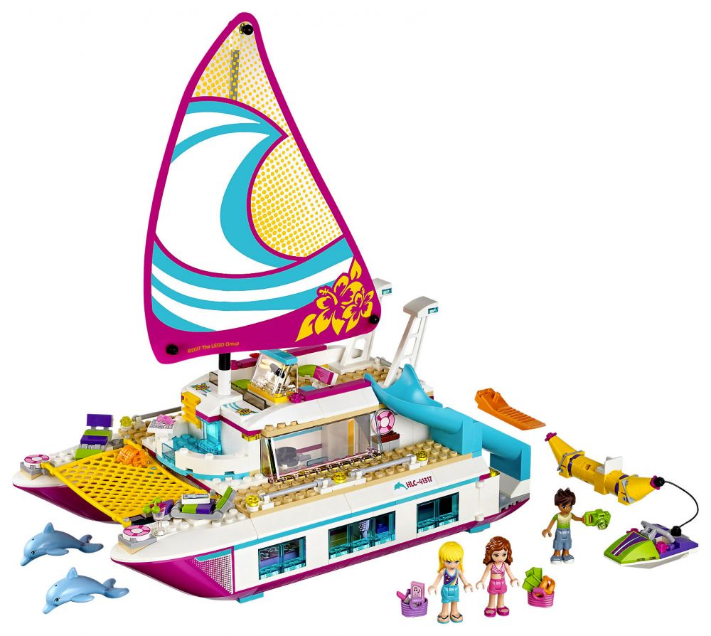 lego friends 41317 pas cher le catamaran. Black Bedroom Furniture Sets. Home Design Ideas