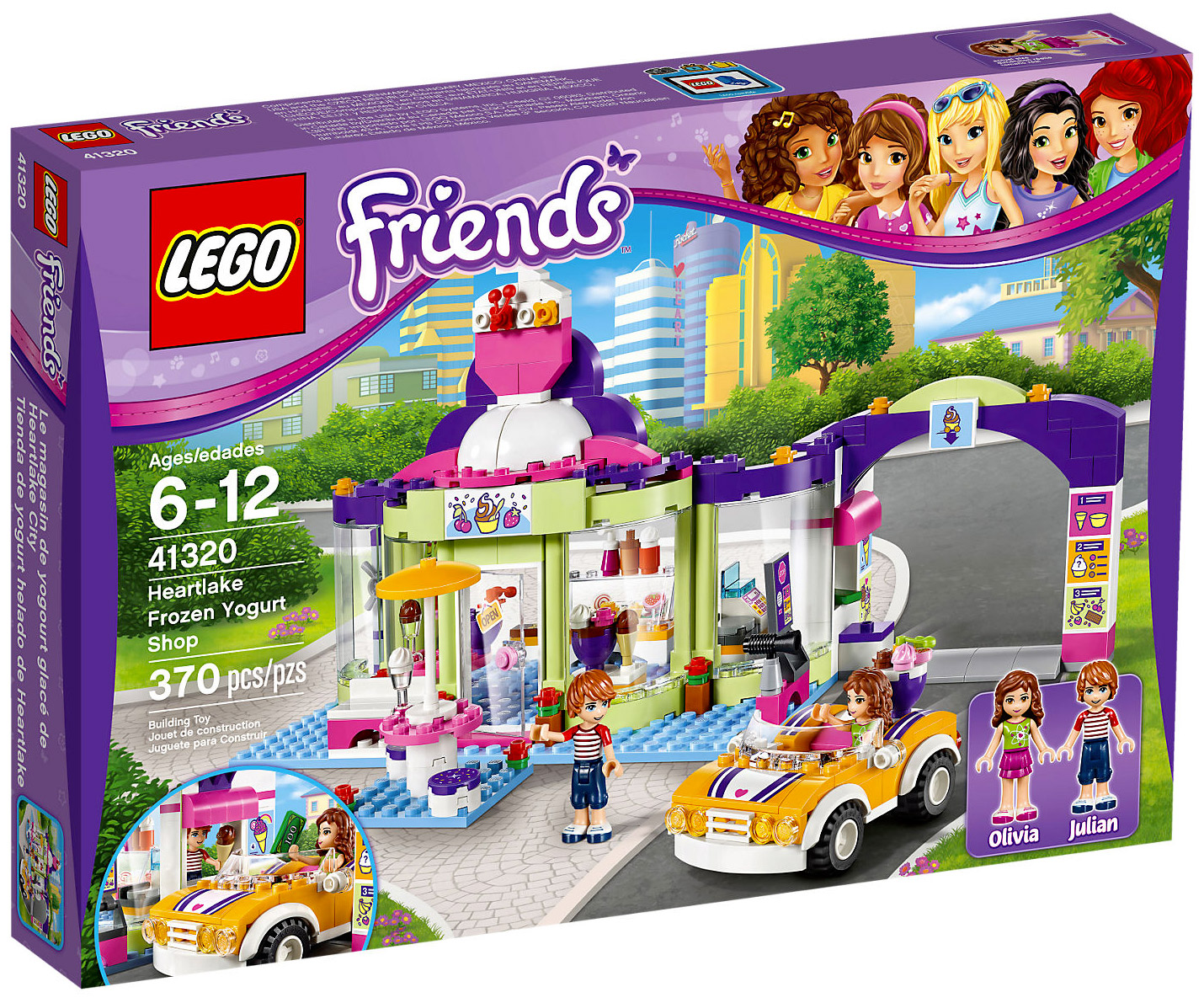lego friends 41320 pas cher le magasin de yaourt glac. Black Bedroom Furniture Sets. Home Design Ideas