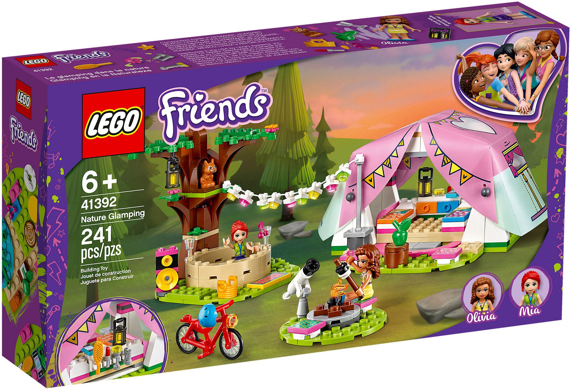 LEGO Friends 41392 pas cher, Le camping glamour dans la nature
