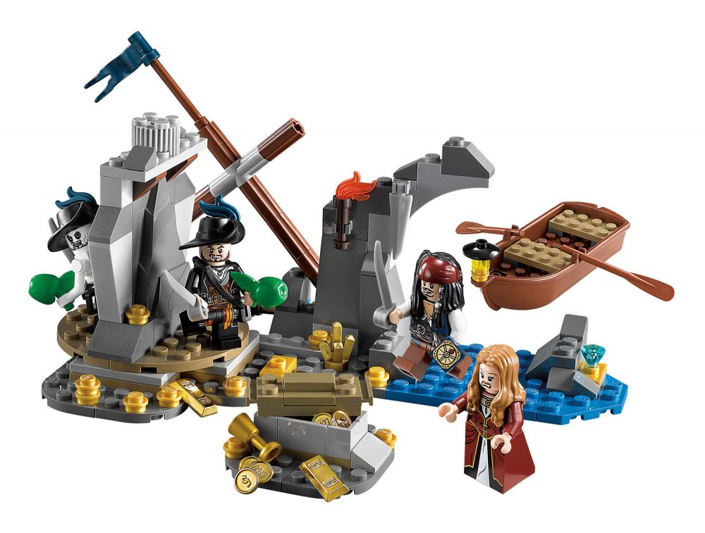 Lego pirates des cara bes 4181 pas cher ile de la muerte - Ile pirate lego ...