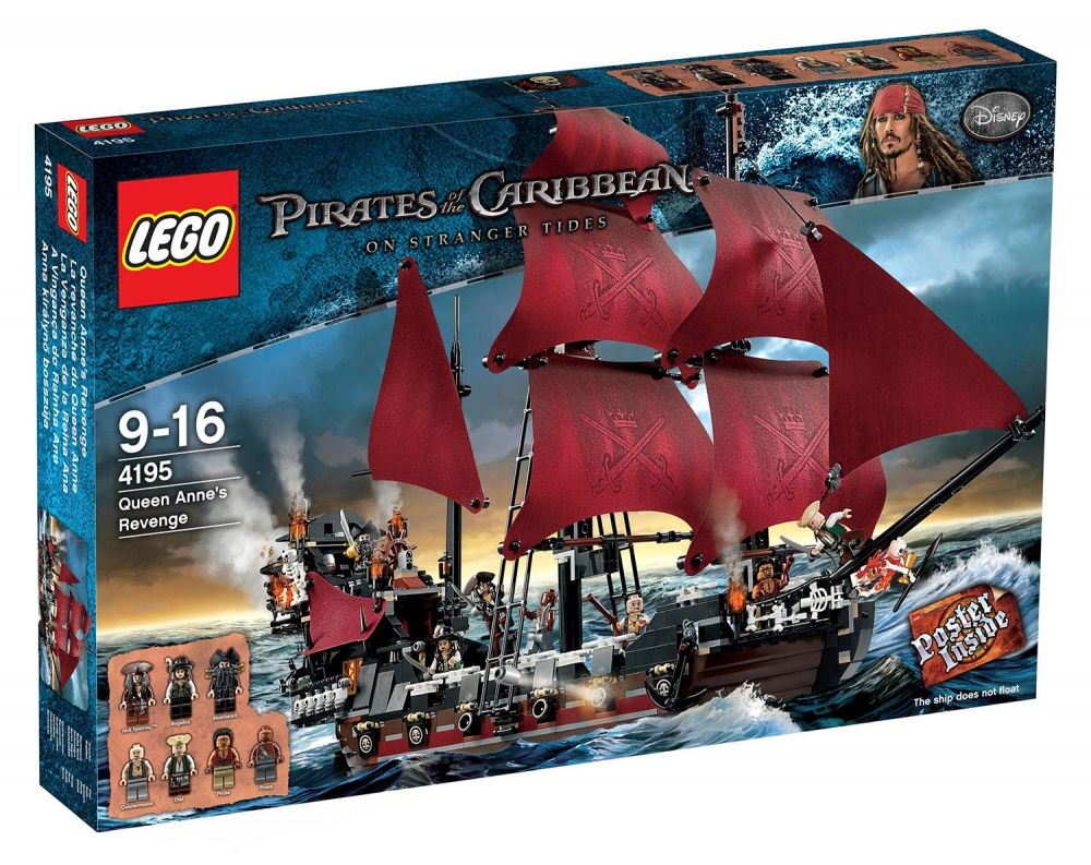 lego pirates des cara bes 4195 pas cher la revanche du queen anne. Black Bedroom Furniture Sets. Home Design Ideas