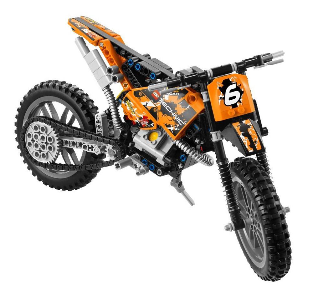lego technic 42007 pas cher la moto cross. Black Bedroom Furniture Sets. Home Design Ideas