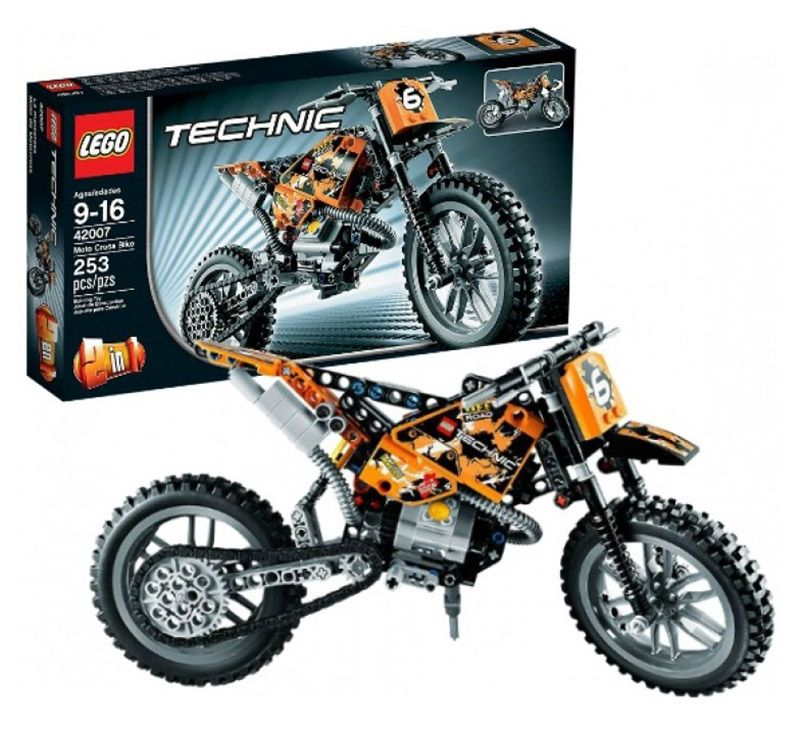lego technic 42007 pas cher la moto cross. Black Bedroom Furniture Sets. Home Design Ideas