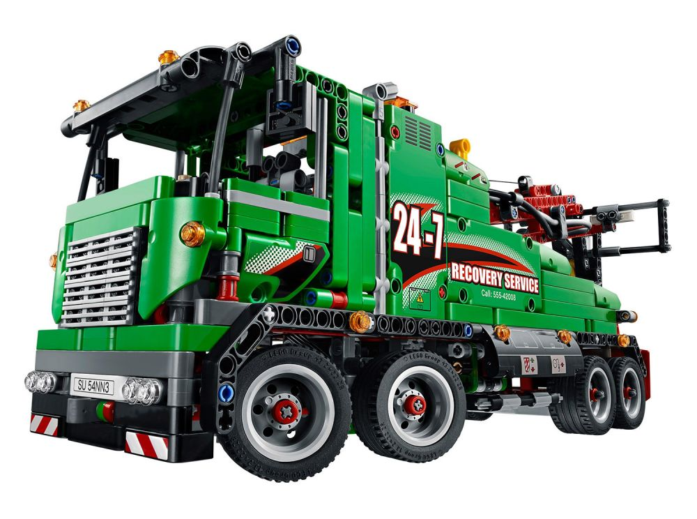 lego technic 42008 pas cher le camion de service. Black Bedroom Furniture Sets. Home Design Ideas