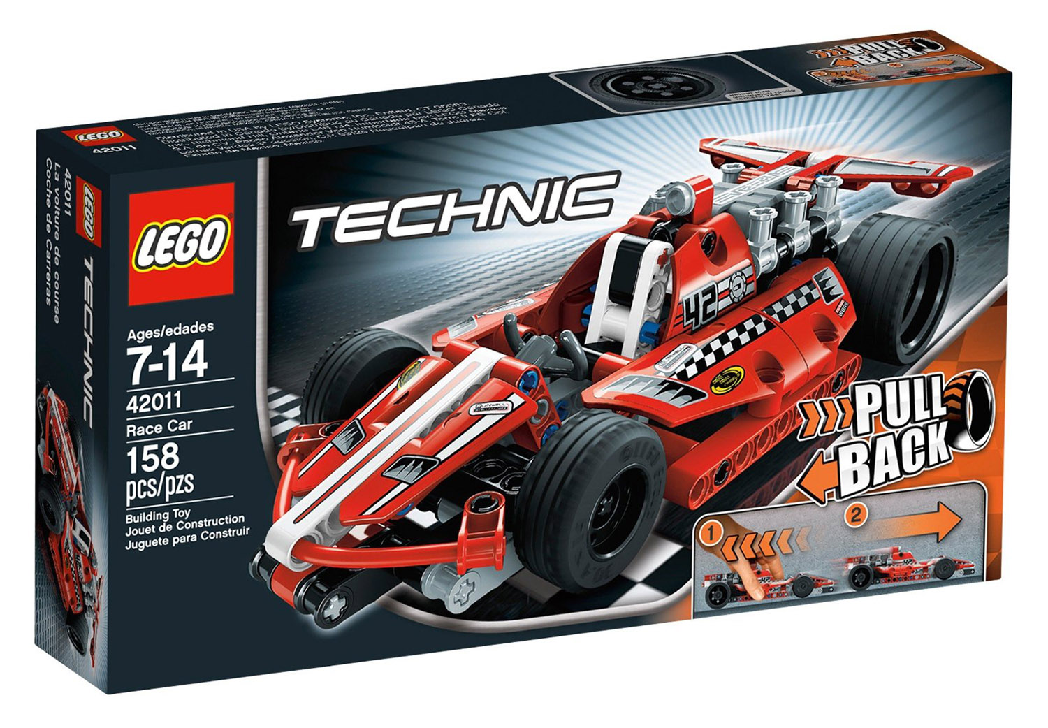 lego technic 42011 pas cher la voiture de course. Black Bedroom Furniture Sets. Home Design Ideas