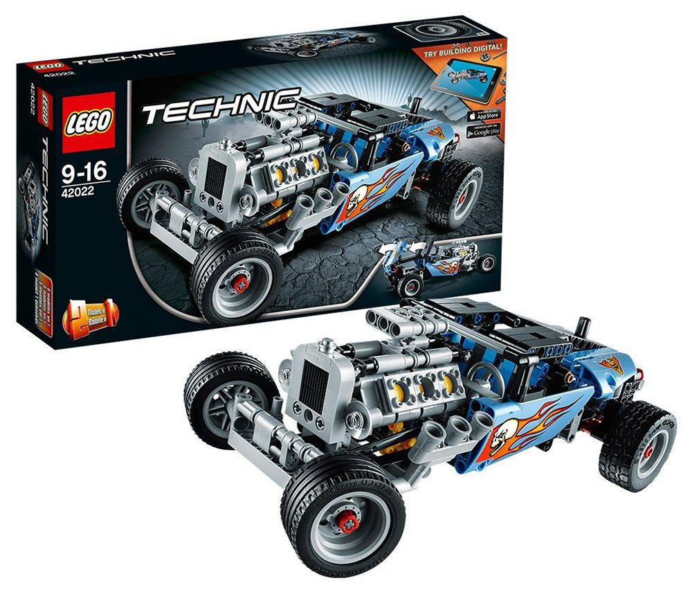 lego technic 42022 pas cher le hot rod. Black Bedroom Furniture Sets. Home Design Ideas