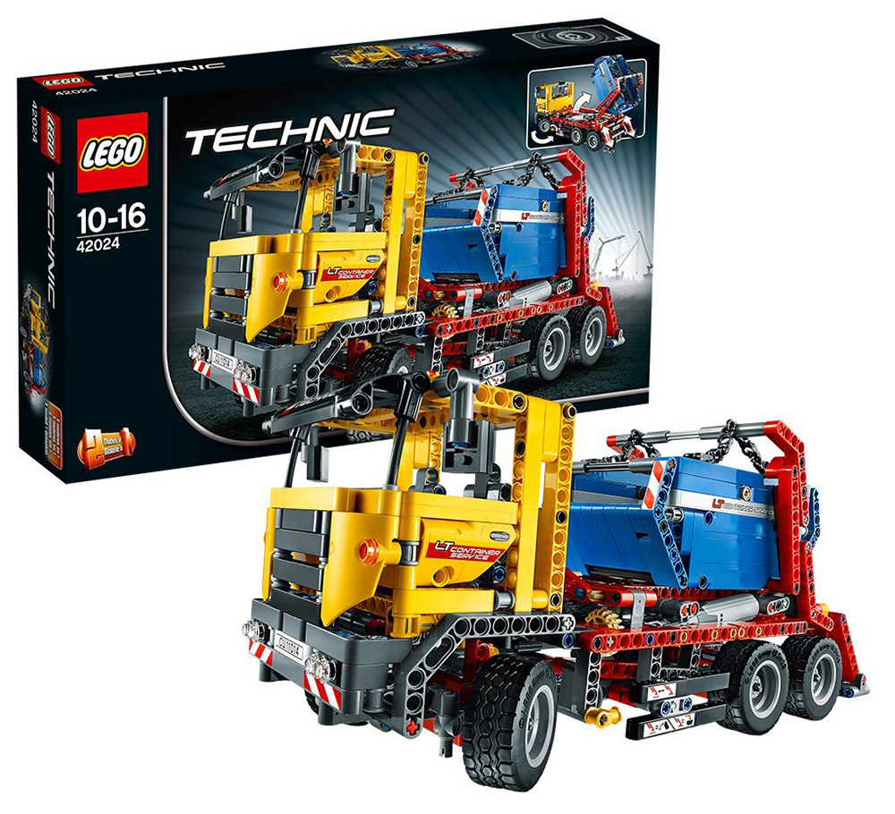 lego technic 42024 pas cher le camion conteneur. Black Bedroom Furniture Sets. Home Design Ideas