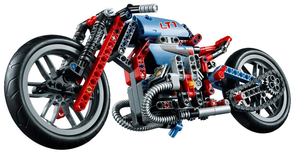 lego technic 42036 pas cher la moto urbaine. Black Bedroom Furniture Sets. Home Design Ideas