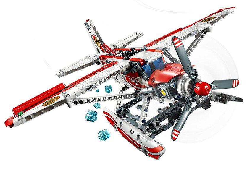 lego technic 42040 pas cher l 39 avion des pompiers. Black Bedroom Furniture Sets. Home Design Ideas