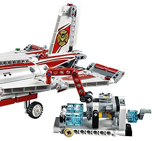 lego technic 42040 pas cher l 39 avion des pompiers. Black Bedroom Furniture Sets. Home Design Ideas