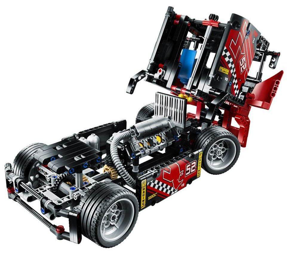lego technic 42041 pas cher le camion de course. Black Bedroom Furniture Sets. Home Design Ideas