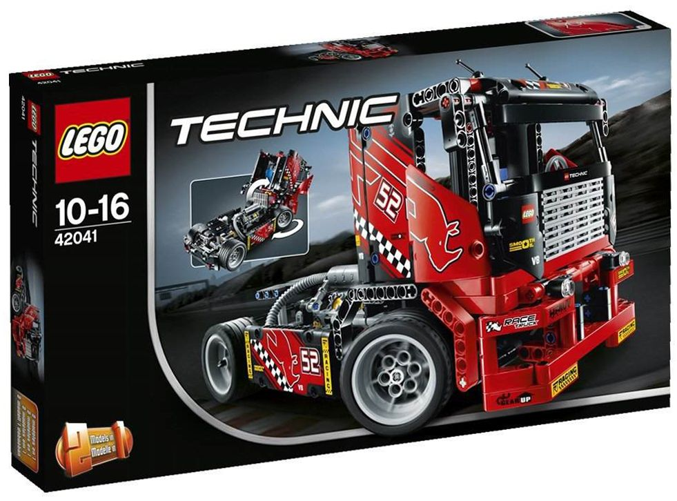 lego technic 42041 pas cher le camion de course. Black Bedroom Furniture Sets. Home Design Ideas