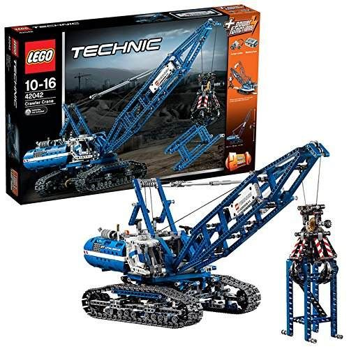 lego technic 42042 pas cher la grue sur chenilles. Black Bedroom Furniture Sets. Home Design Ideas
