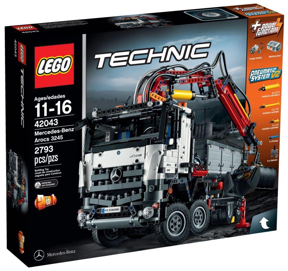 lego technic 42043 pas cher mercedes benz arocs 3245. Black Bedroom Furniture Sets. Home Design Ideas