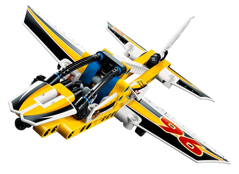 Lego technic 42044 pas cher l 39 avion de chasse acrobatique - Avion de chasse en lego ...
