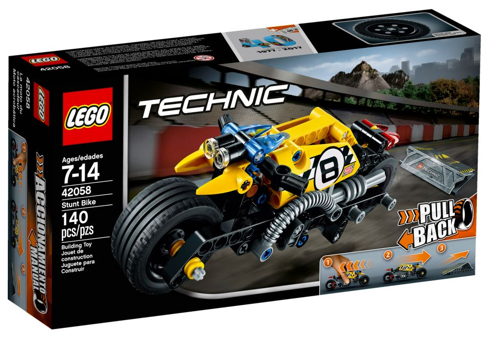 lego technic 42058 pas cher la moto du cascadeur. Black Bedroom Furniture Sets. Home Design Ideas