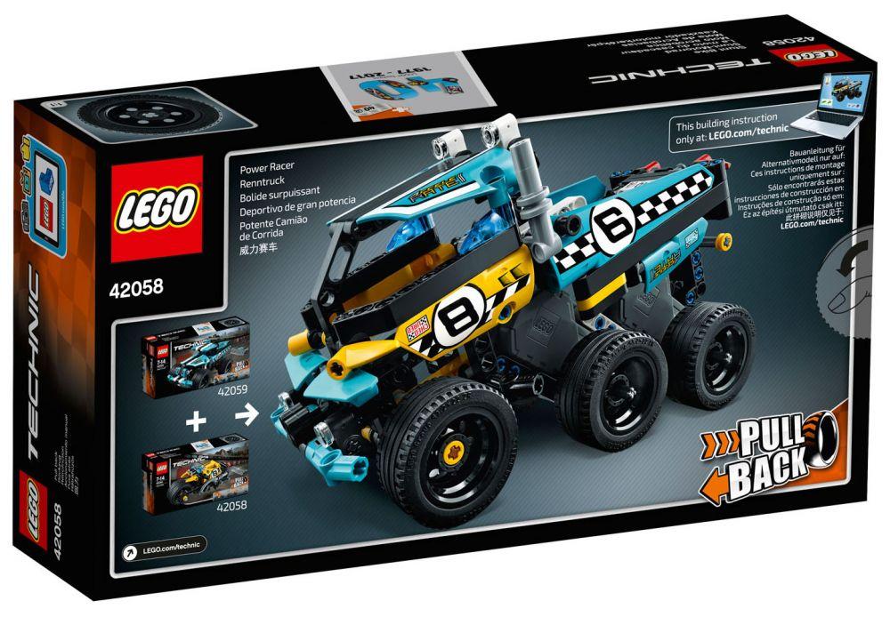 Moto Technic La 42058 Du Cascadeur Lego PkXuOZi