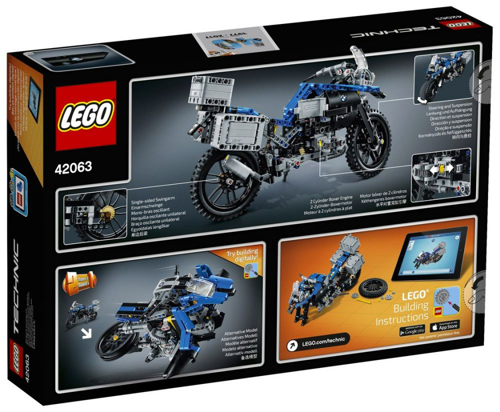 lego technic 42063 pas cher bmw r 1200 gs adventure. Black Bedroom Furniture Sets. Home Design Ideas
