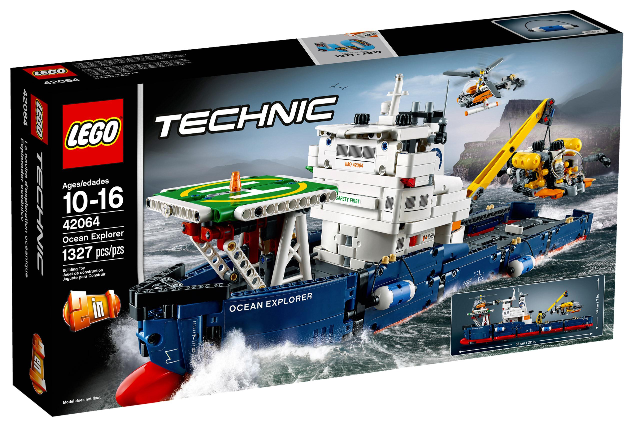lego technic 42064 pas cher le navire d exploration. Black Bedroom Furniture Sets. Home Design Ideas