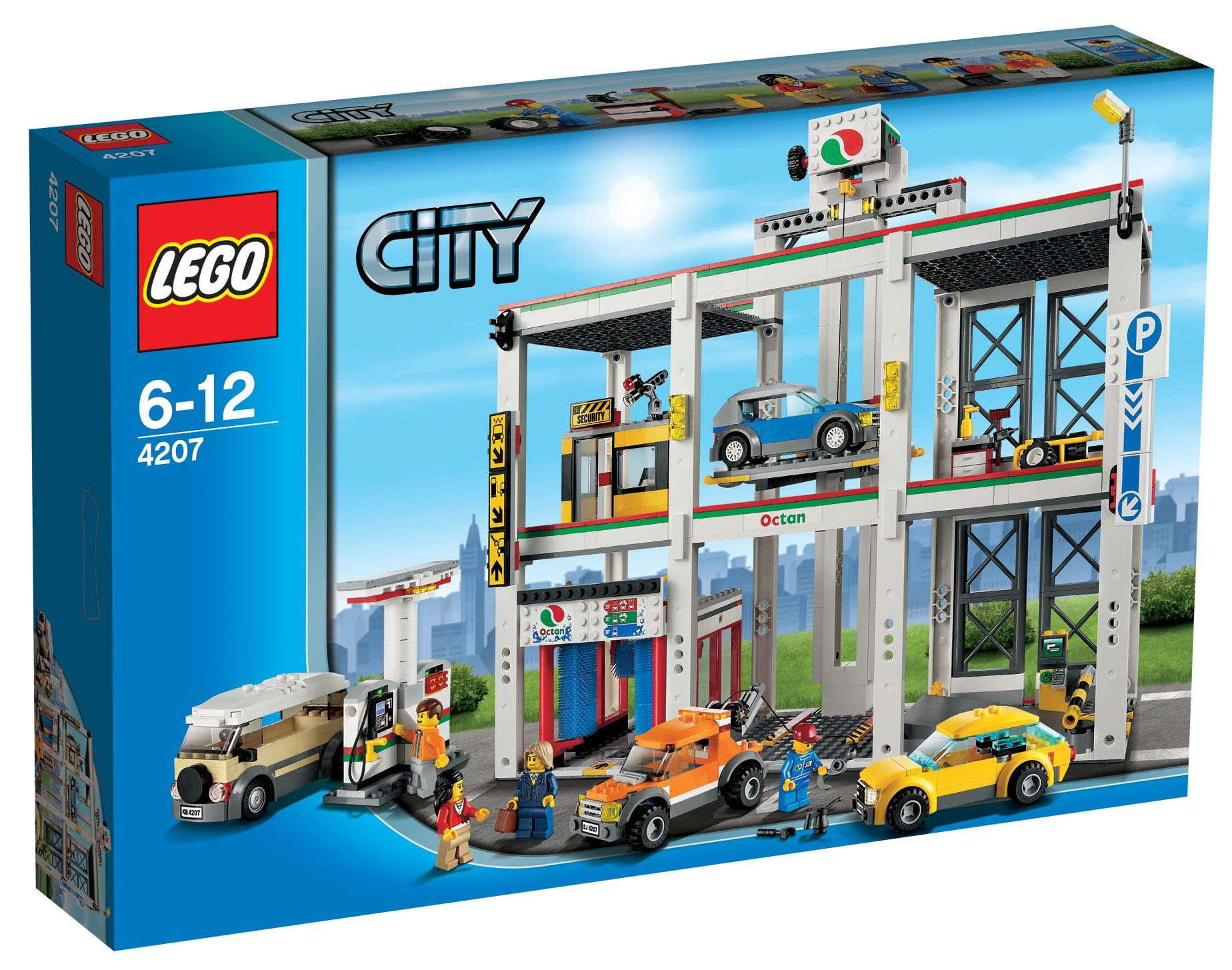 lego city 4207 pas cher le garage de lego city. Black Bedroom Furniture Sets. Home Design Ideas