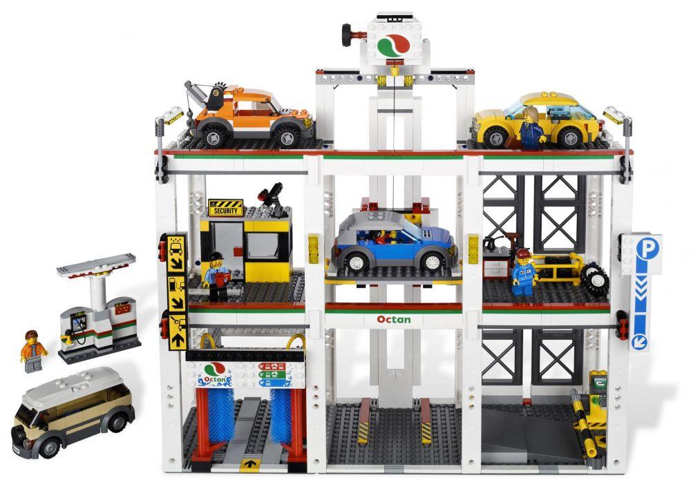 Lego city 4207 pas cher le garage de lego city for Garage auto city cadaujac