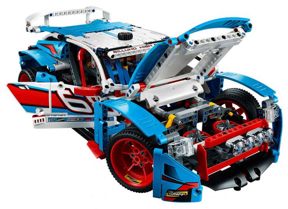 lego technic 42077 pas cher la voiture de rallye. Black Bedroom Furniture Sets. Home Design Ideas