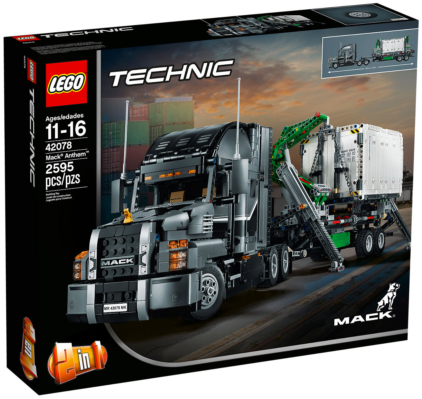 lego technic 42078 pas cher mack anthem. Black Bedroom Furniture Sets. Home Design Ideas